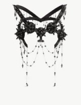 HOUSE OF MALAKAI Hybrid IX embellished headpiece Black/Silver – statement crystal evening accessory – dramatic eveningwear