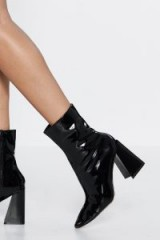 NASTY GAL It's Your Time to Shine Patent Boot in Black – shiny boots