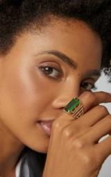 Goshwara 18K Gold, Green Tourmaline And Diamond Ring ~ stunning statement jewellery
