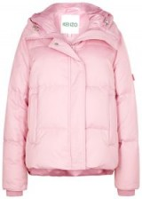 KENZO Pink quilted cotton-blend coat – girly puffer jacket