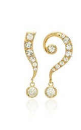 Lulu Frost Kismet White Crystal Drop Earrings