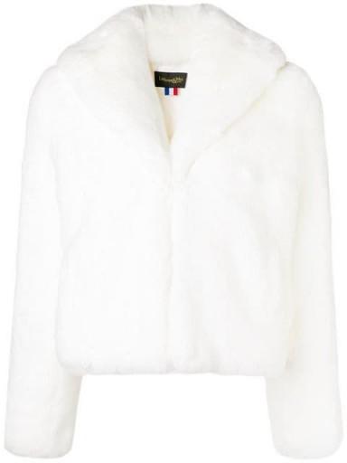 LA SEINE & MOI Erelle white faux fur jacket