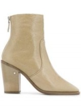 LAURENCE DACADE Nerdi beige leather boots