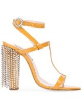 LEANDRA MEDINE embellished heel sandals / glamorous jewel fringed heels