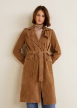 MANGO Leather trench in Medium Brown – SAND | autumn colours
