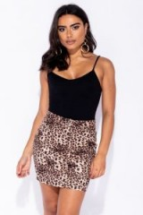 Swarovski LEOPARD PRINT DENIM MINI SKIRT ~ animal prints