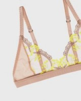 LONELY yellow daisy scout softcup bra in pink ~ pretty floral lace bras