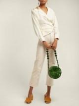 CULT GAIA Luna acrylic shoulder bag   round retro jewel tone bag