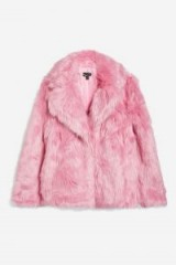 TOPSHOP Luxe Pink Faux Fur Coat