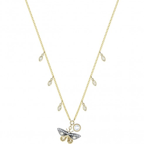 SWAROVSKI MAGNETIC BUTTERFLY NECKLACE, MULTI-COLOURED, MIXED PLATING | nature inspired crystal pendants