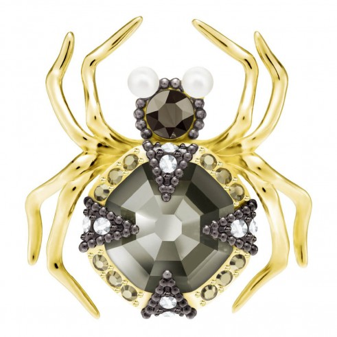 Swarovski MAGNETIC SINGLE PIERCED SPIDER EARRING, MULTI-COLOURED, MIXED PLATING