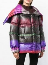 MARCO DE VINCENZO multicoloured short padded coat – luxe puffer