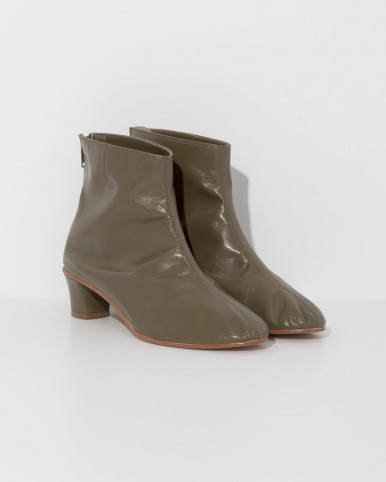MARTINIANO Olive high leone ankle boot in green