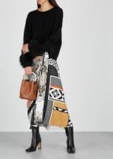 MARY KATRANTZOU Etty printed cady midi skirt | chic mixed print skirts