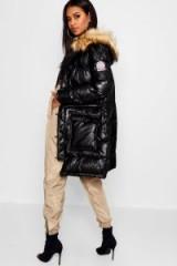 boohoo Matte Metallic Sporty Puffer Jacket | high shine winter coats