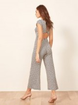 Reformation Mayer Jumpsuit in Quito | open back cropped leg jumpsuit