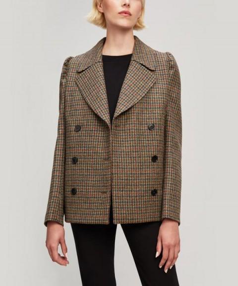 MASSCOB Meg houndstooth wool Blazer