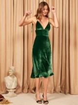 Reformation Melany Dress in Emerald | green jewel-tone dresses