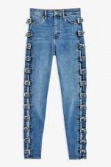 Topshop Mid Blue Buckle Jamie Jeans
