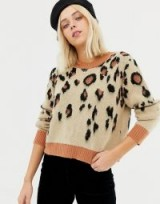 Miss Selfridge jumper in leopard – animal print knitwear