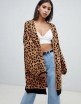 Missguided longline cardigan in leopard – animal print knitwear