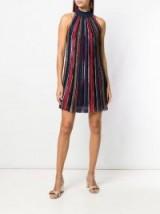 MISSONI multicoloured halterneck shift dress
