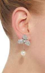 Jennifer Behr M'O Exclusive Pearl And Swarovski Crystal Drop Earrings