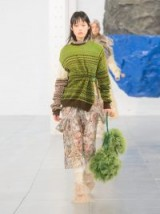 PREEN BY THORNTON BREGAZZI Moira Green Fair Isle-knit wool-blend sweater ~ contemporary knitwear