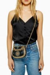 Topshop Mosaic Box Bag | small chain strap crossbody