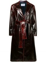 MSGM red patent trench coat