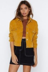 NASTY GAL My Sharona Cropped Jacket in Mustard – cool yellow jacket