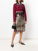 Nº21 glittered tulle-layered skirt ~ feminine tartan skirts