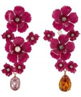 JENNIFER BEHR Narcissa Floral Tear Drop Earrings – statement drops – coloured crystals