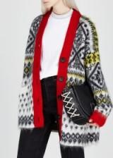 NO.21 Fair Isle-knit oversized wool-blend cardigan ~ patterned cardi
