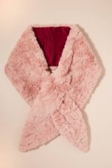 Nooki Faux-Fur Stole in Pink at Anthropologie | luxe style winter accessory