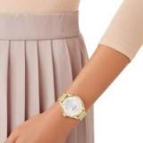 Swarovski OCTEA NOVA WATCH, MILANESE BRACELET, GOLD TONE ~ luxe crystal watch
