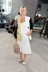 Pandora Sykes in a chic neutral look at Rejina Pyo S/S 2019 at LFW ~ Celebrity outfits London Fashion Week