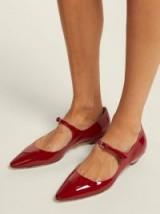 MIU MIU Red Patent-leather Mary-Jane flats   retro shoes