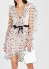PHILOSOPHY DI LORENZO SERAFINI Pale pink tiered tulle dress ~ feminine semi sheer event wear