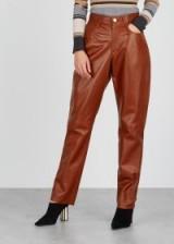 PHILOSOPHY DI LORENZO SERAFINI Terracotta leather trousers | rust-brown pants