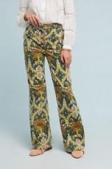 Pilcro Corduroy High-Rise Wide-Leg Jeans   Retro Floral Print Cords
