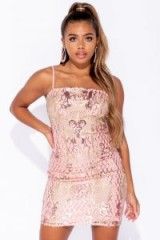 Parisian PINK GEOMETRIC SEQUIN CAMI STYLE BODYCON MINI DRESS – strappy going out dresses