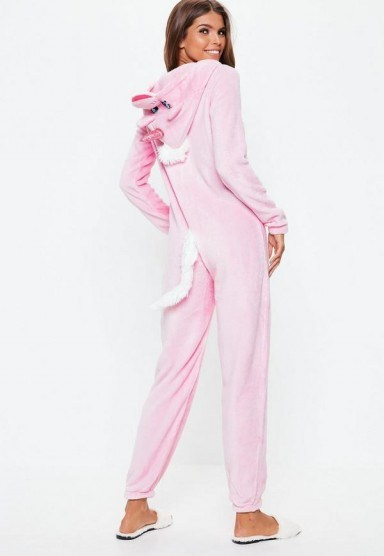 MISSGUIDED pink unicorn onesie – cute Christmas gift - flipped