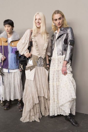 Models backstage at Coach 1941 during New York Fashion Week Spring 2019