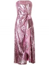 PRABAL GURUNG Lilac sequin embellished strapless dress