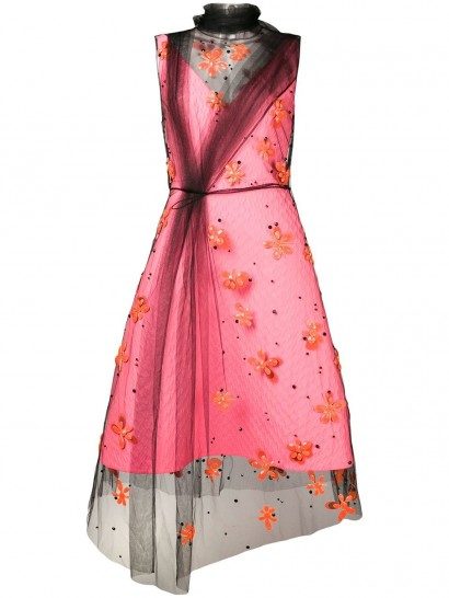PRADA floral embroidered tulle dress
