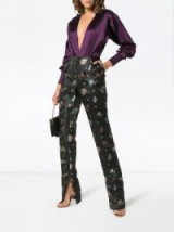 PREEN BY THORNTON BREGAZZI Juno Black Floral-Jacquard Trousers