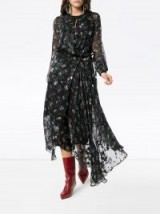 PREEN BY THORNTON BREGAZZI Olga black floral embellished dress