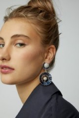 Lulu Frost Prophecy Blue and White Crystal Drop Earrings ~ glamorous statement jewellery