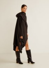 MANGO COMMITTED Recycled wool-blend cape in black – LANA